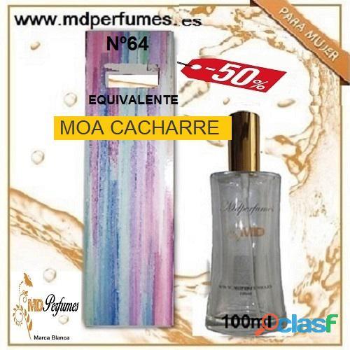 Oferta 10€ Perfume Mujer MOA CACHARRE nº64 Alta Gama Equivalente 100ml