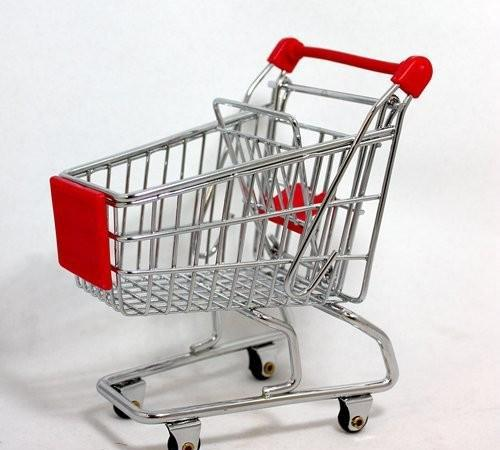 Mini carrito / carro de compra de supermercado (medidas: