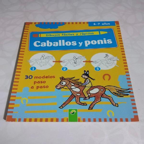 Caballos y ponis. dibujos fáciles y rápidos