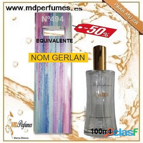 Oferta 10€ Perfume Mujer NOM GERLAN nº494 Alta Gama Equivalente 100ml