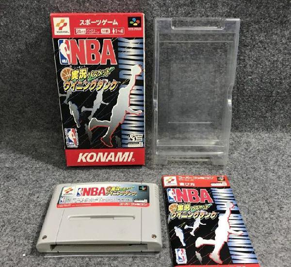 Nba jikkyou basket winning dunk jap super famicom nintendo