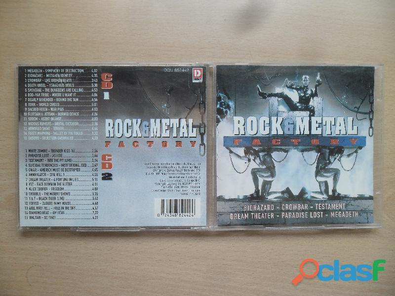 ROCK METAL FACTORY 2 CD'S RECOPILATORIO