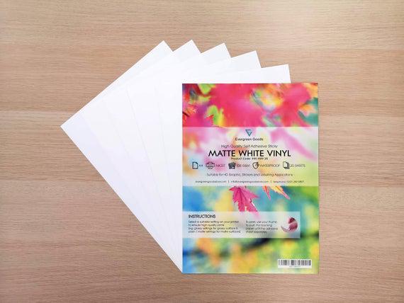 A4 matte vinilo pegatina impermeable etiquetas / blanco