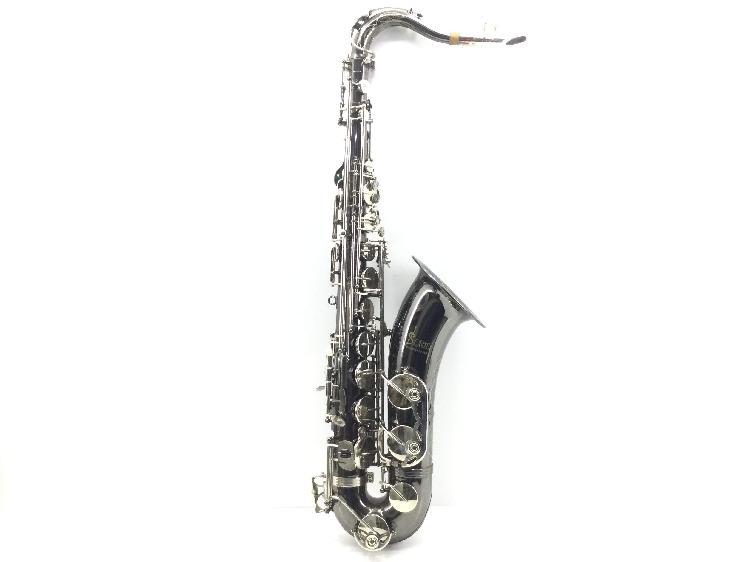 Saxofon slade tenor color plata oscuro con motivos dorados