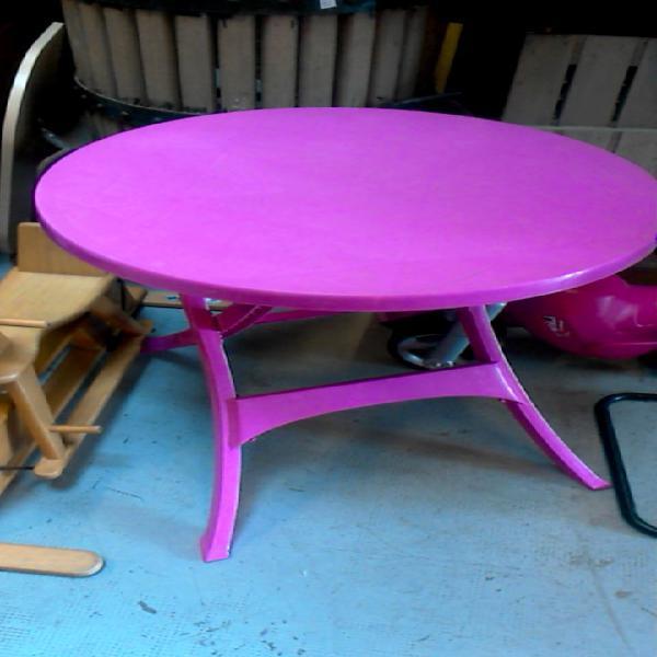 Compre la oportunidad de mesa pvc rosa