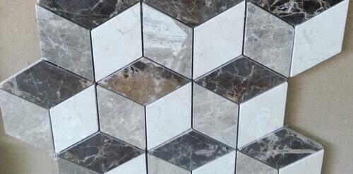 Mosaico marmol natural para baños
