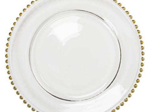 Plato presentación perlas oro
