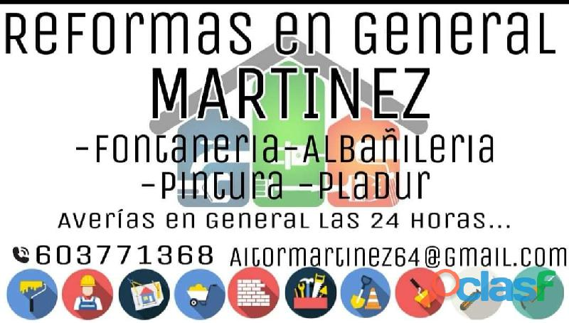 Reformas en general Martínez