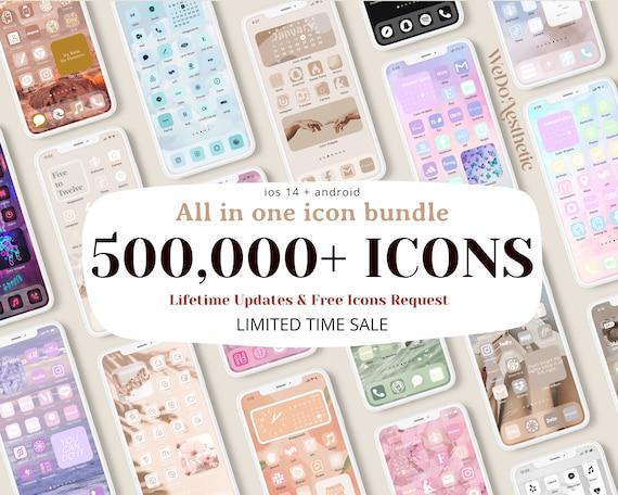 500,000+ app icons, ios 14 icons aesthetic, app icon free,