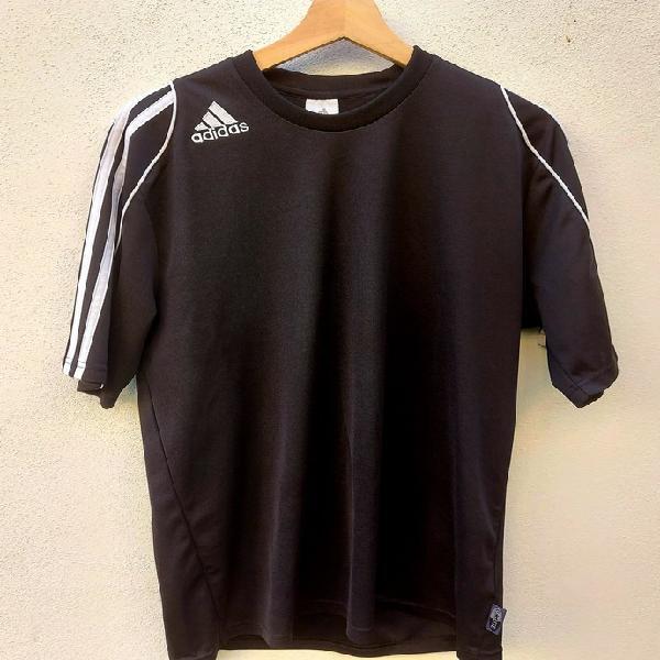 Camiseta adidas clásica negra 3 rayas