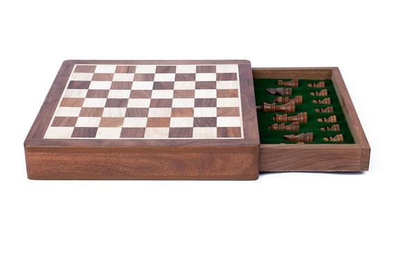 Juegos de ajedrez de madera hechos a mano / mesa de ajedrez