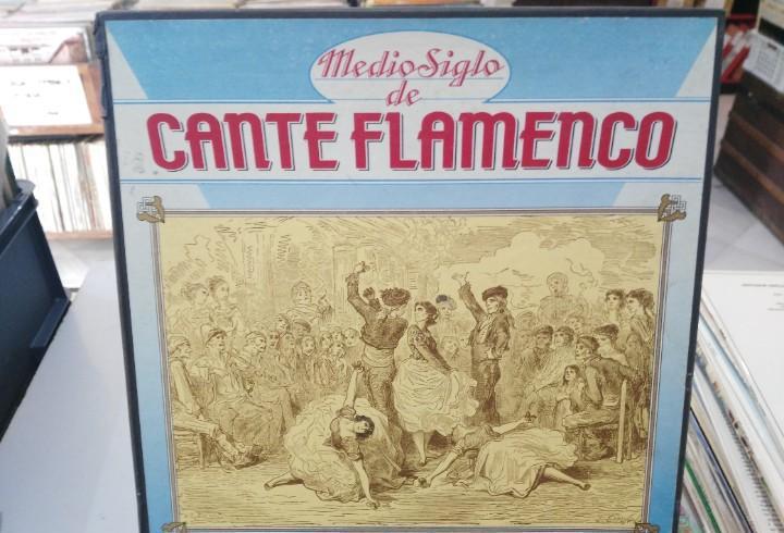 Medio siglo de flamenco - caja, contiene 10 lps. + libreto -