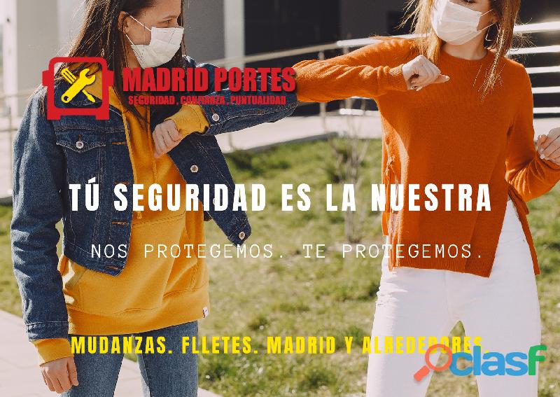 Valladolid Madrid Portes y mudanzas 2021