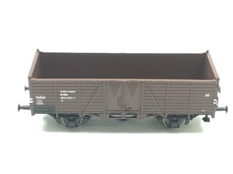 Vagon escala h0 roco vagon corto abierto marron