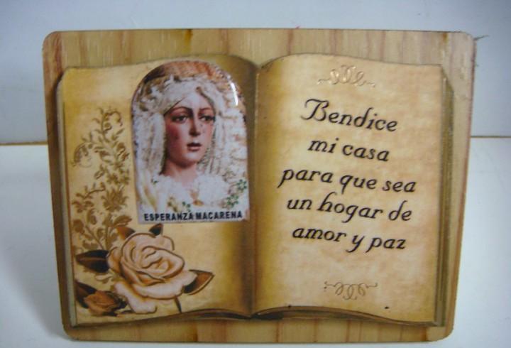 Iman de la virgen esperanza macarena lleva soporte para