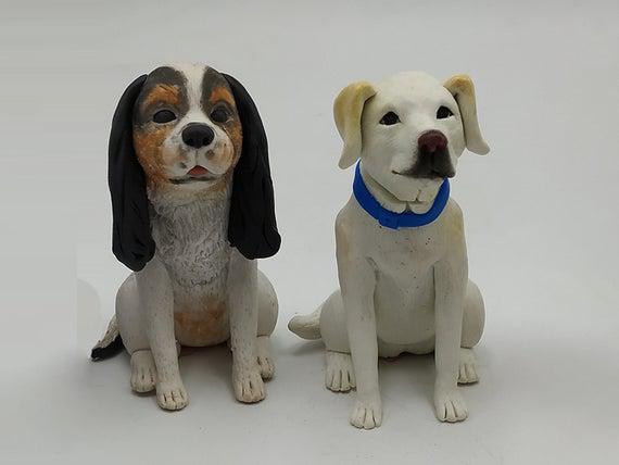 Personalized custom pet dog wedding cake gift box, pet
