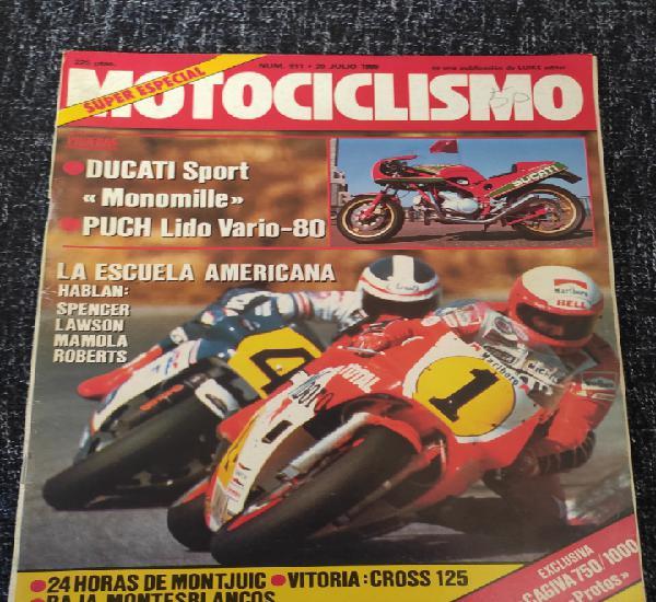 Motociclismo nº nº 911 año 1985 prueba puch suzuki lido