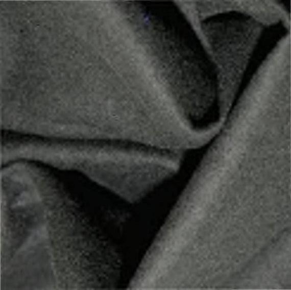 Negro - Plain Winceyette Flannelette 100% Tejido de Algodón
