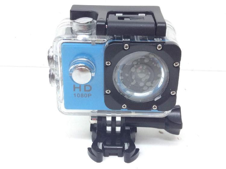 Camara deportiva sport camera azul hd 1080p