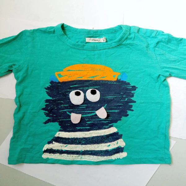 Camiseta manga larga de algodón sfera 18 meses a 24 meses