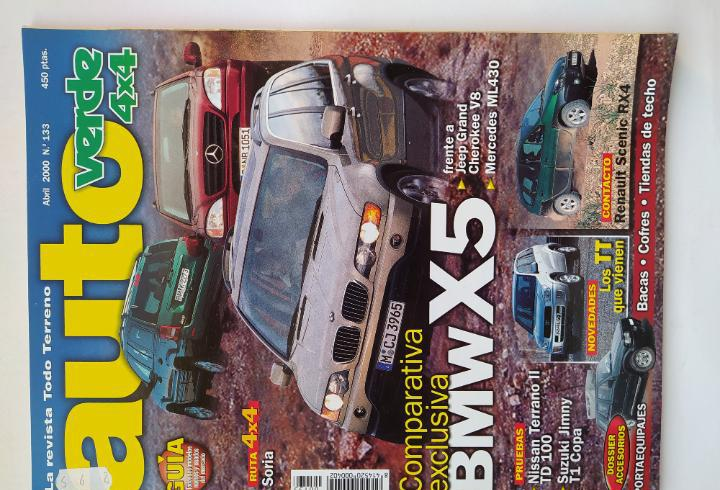 Revista auto verde nº 133 año 2000. pru: nissan terrano ii