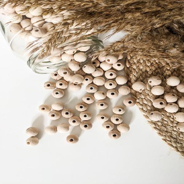 Cuentas de madera hechas de madera de haya | cuentas de
