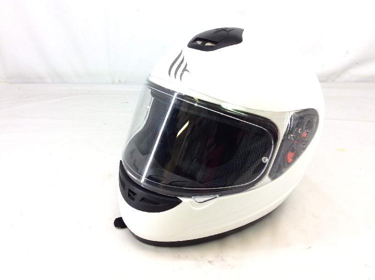 Accesorio moto mt helmets talla s, color blanco
