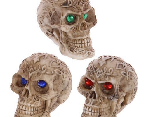 Figura calavera - mini calaveras celtas con gemas en los