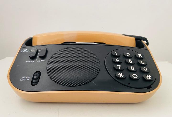 Space age design telephone 1984