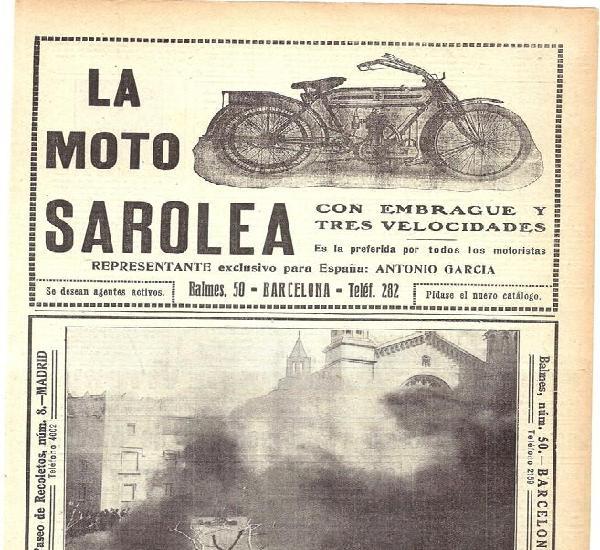 1913 hoja revista publicidad anuncio producto motocicleta la