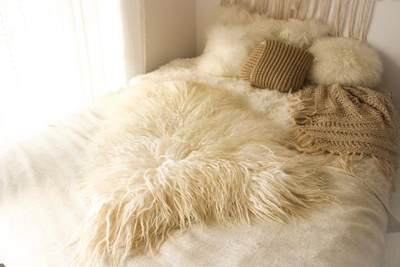 Alfombra islandesa real de piel de oveja