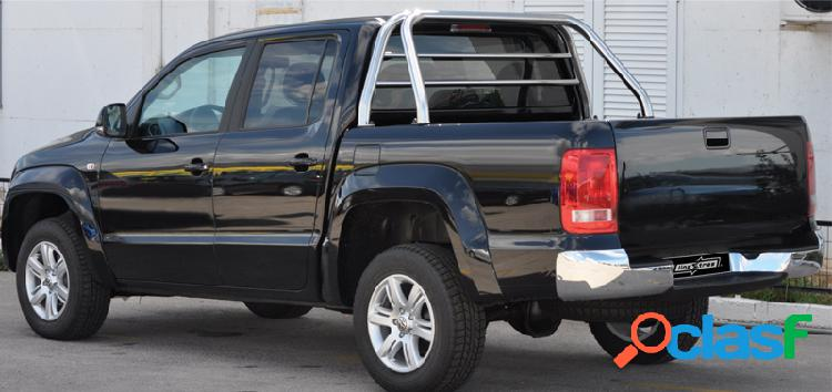 Roll-bar c/prot. cristal acero inoxidable 60mm ford ranger