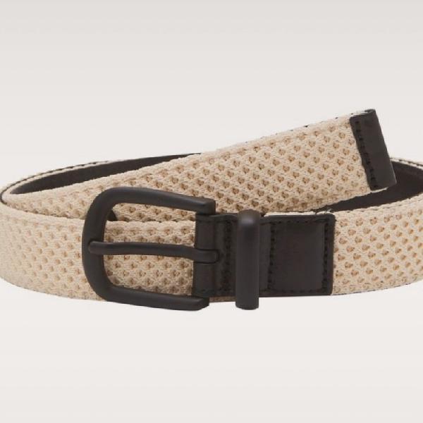 Cinturón hombre interior en piel y exterior con original