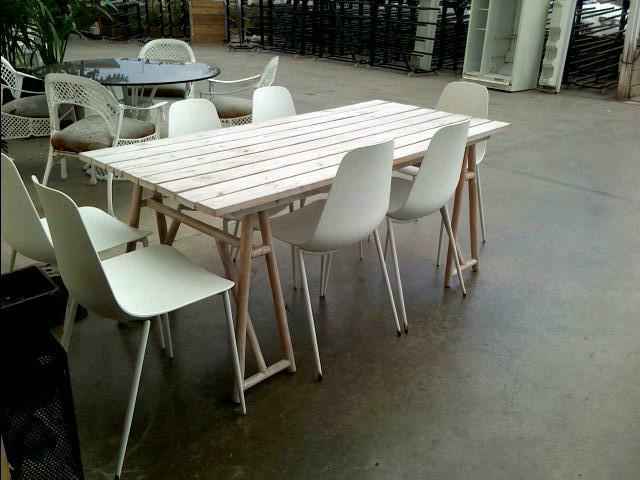 Compre la oportunidad de mesa jardin madera