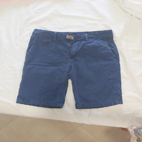 Pantalón corto azul de hombre de zara