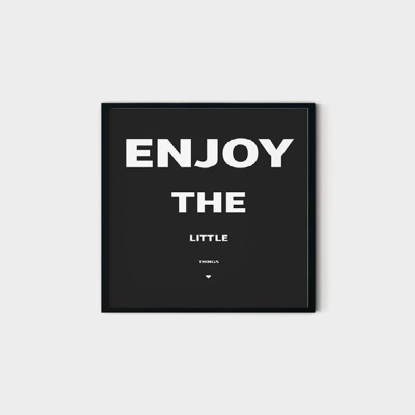Enjoy the little things (black) wall art print
