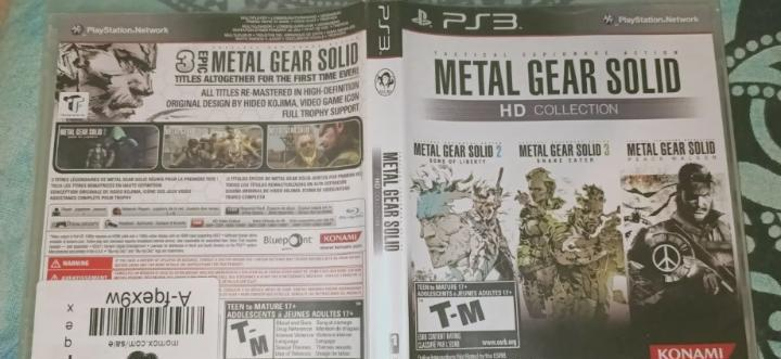 Metal gear solid hd collection - ps3 classics hd - sealed -
