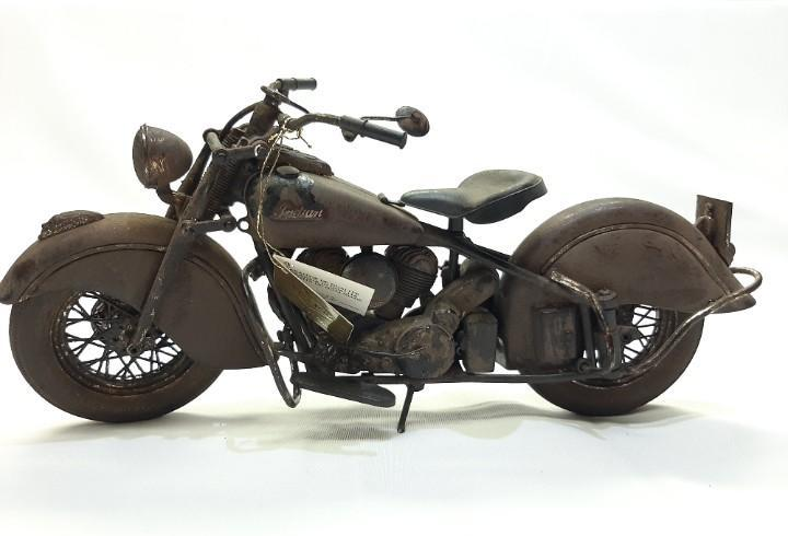 1 moto indian chief 348 (1948) - óxido - guiloy - en caja