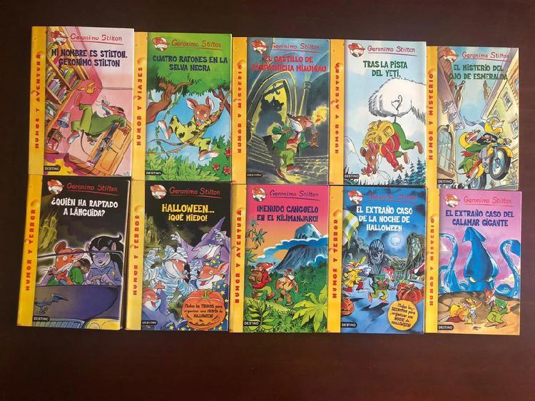 10 libros de geronimo stilton los cuales son 1,
