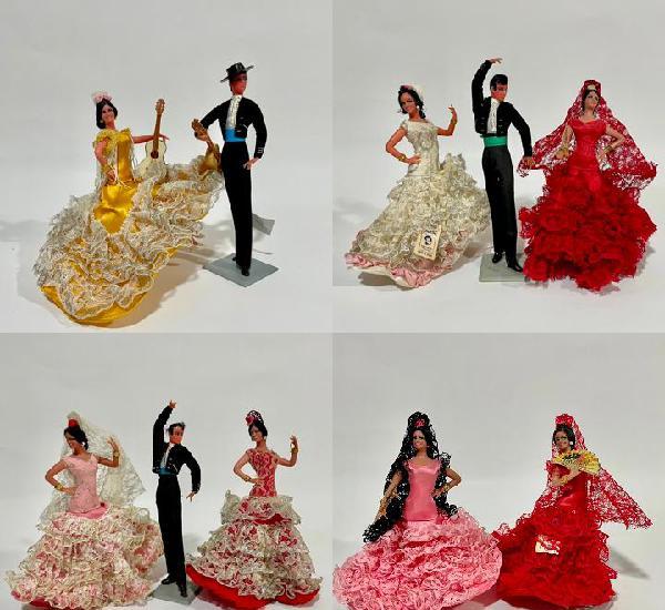 10 muñecas de marín chiclana flamencas bailaores serie de