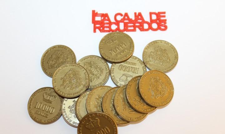 15 monedas reales de 10.000 del juego la ruta del tesoro de
