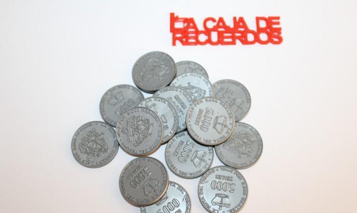 15 monedas reales de 5.000 del juego la ruta del tesoro de
