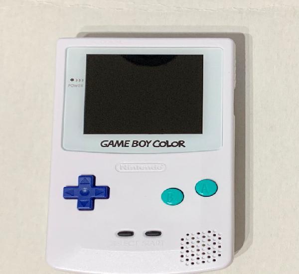 Nintendo game boy color con pantalla ips y carcasa nueva