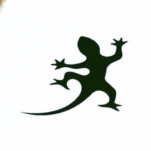 Pegatinas de geco (lagartos) juego, corte de vinilo