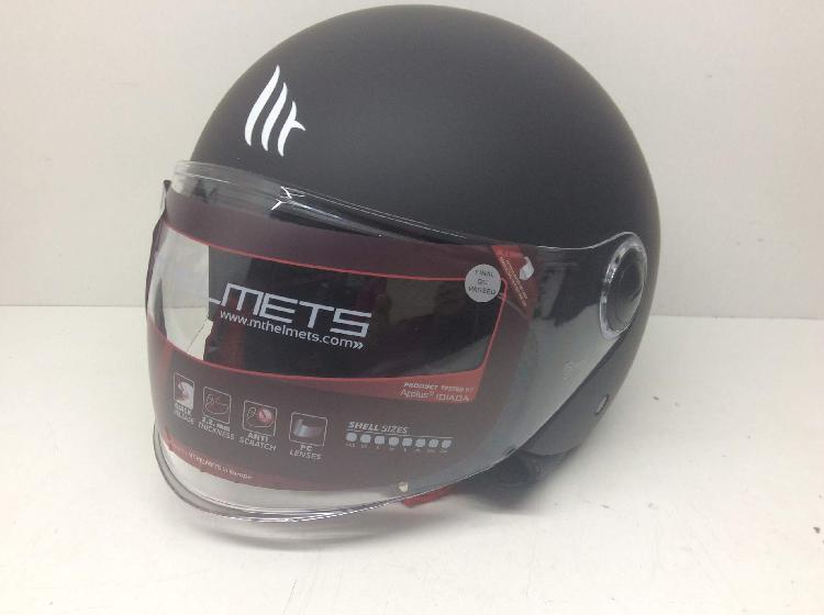Casco jet mt helmets street solid matt black