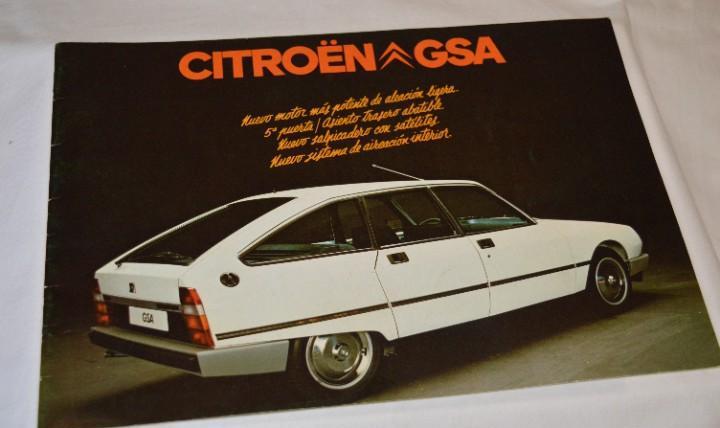 Año 79, antiguo folleto / catálogo / publicidad citroën