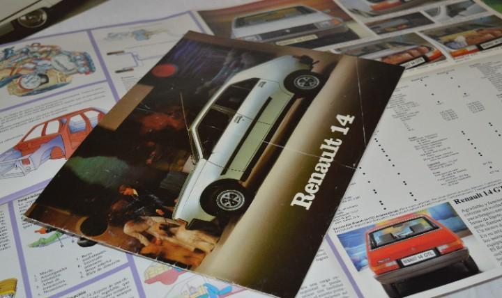 Año 79, antiguo folleto / catálogo / publicidad renault 14