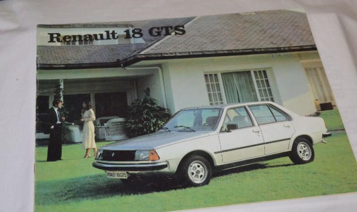 Año 79, antiguo folleto / catálogo / publicidad renault 18