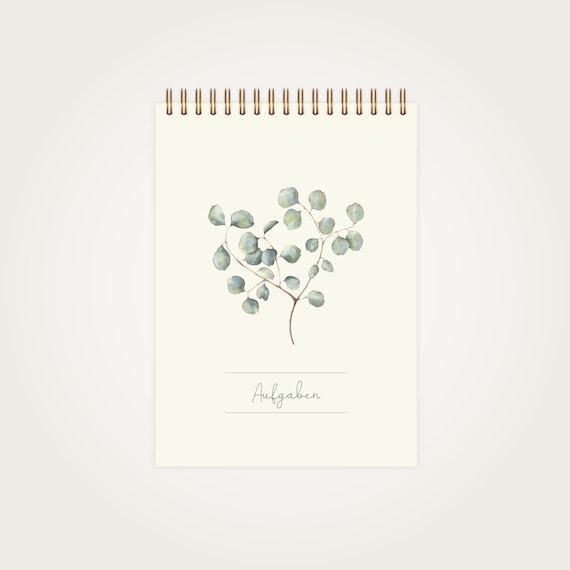 Lista de tareas pendientes eucalyptus a5 – 50 páginas –