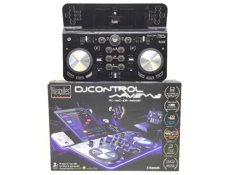 Controlador hercules dj control wave 3 bluetooth ios &